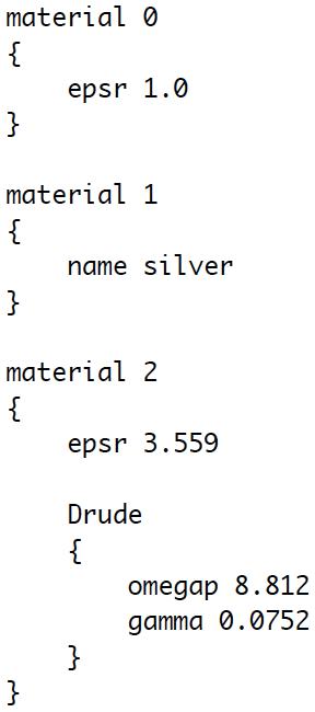 FDTD++ materials file